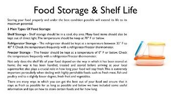 Food Storage PowerPoint
