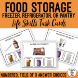 Food Storage Field of 3 Task Cards
