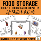 Food Storage Field of 2 Task Cards