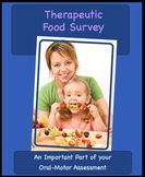 OT, SP/L -Food Survey: Oral Dysfunction, Sensitivity, Food Aversions, Nutrition