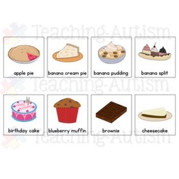 Food Symbol Communication Cards - Autism