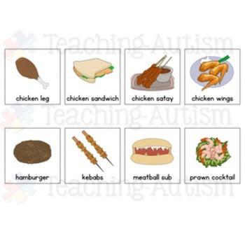 Special Education Visual Symbols Food