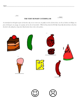 Food Tasting With the Very Hungry Caterpillar