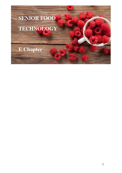 Food Technology E chapter Trends in the marketplace