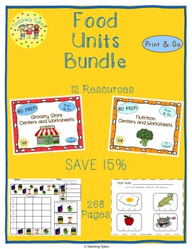 Food Units Centers and Printables Bundle