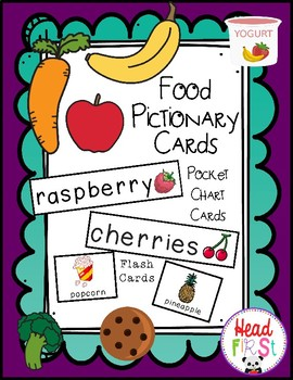 Food Theme Pocket Chart Words