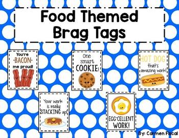 Food Themed Brag Tags