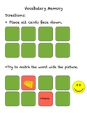 Food Memory Game for ESL / ELL Beginners or Primary Grades