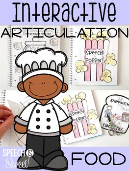 Food Themed Interactive Articulation Notebook