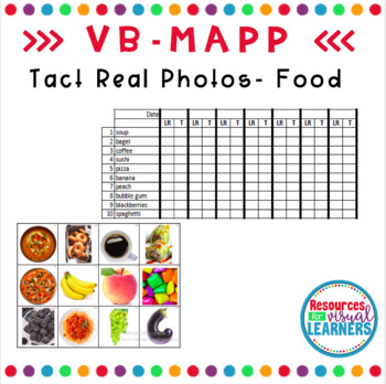 Food Themed Real Picture Cards Aligned to VB-MAPP
