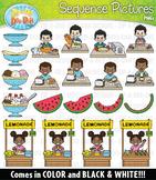 Food Sequence Action Pictures Clipart {Zip-A-Dee-Doo-Dah Designs}