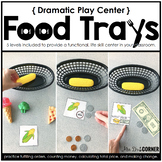 Food Trays Dramatic Play Center | Fill Orders, Make Change, Next Dollar Up