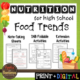 Food Trends - Interactive Note-Taking Materials
