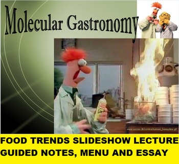 Food Trends Slideshow, Guided Notes and Writing Assignment
