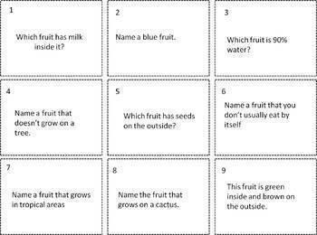 Food Trivia Card Game