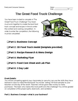 Food Truck Challenge- Culinary Arts Final Project