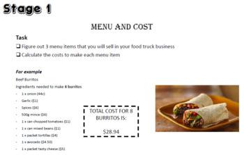 Food Truck Challenge - Math PBL