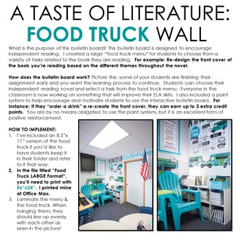 Food Truck Wall: Interactive Bulletin Board for Independent Reading