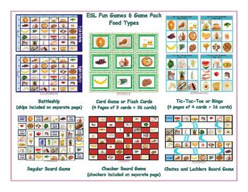 Food Types 6 Board Game Bundle
