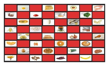 Food Types Checker Board Game