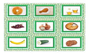 Food Types Spanish Legal Size Photo Card Game