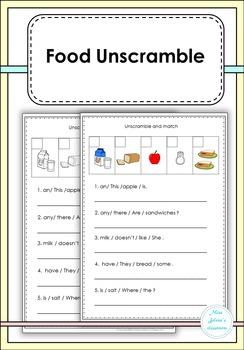 Food Unscramble