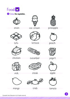 Food - Vegetables (I): Long E - Kindergarten, K2 (4 years old)