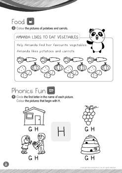 Food - Vegetables (II): Letter H - Kindergarten, K1 (3 years old)