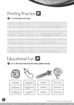 Food - Vegetables (II): Long E - Kindergarten, K2 (4 years old)