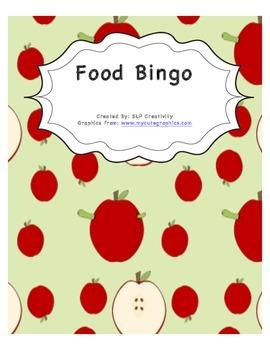 Food Vocabulary Bingo