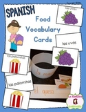 Vocabulary Cards: Foods (Spanish)