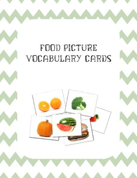 Food Vocabulary Flash Cards