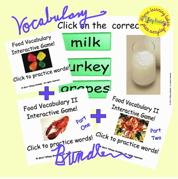 Food Vocabulary Games Bundle