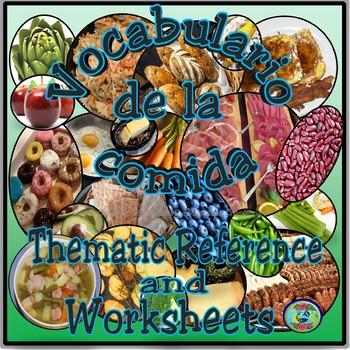 Food Categories Vocabulary Reference / El vocabulario de l