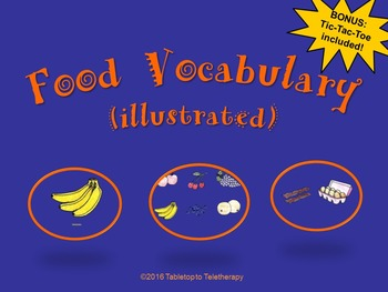 Food Vocabulary (Illustrated)