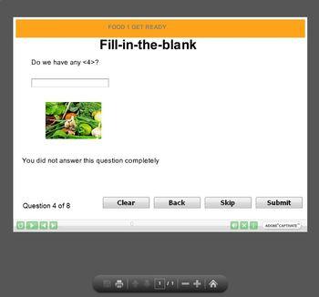 Food Vocabulary Interactive Quiz 1