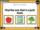 Food Vocabulary Skill Builder *NO PRINT & INTERACTIVE*