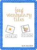 Food Vocabulary Tiles Center