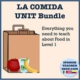 Food Vocabulary Unit for Spanish: Comida Bundle