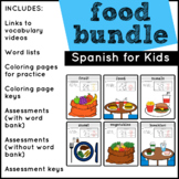 Spanish Food Vocabulary (BUNDLE)