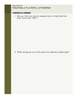 Food Waste:  Leveled Informational Text