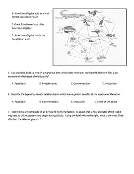 Food Web/AbioticBiotic Test (8.11A & B Assessment)- Pre-AP!