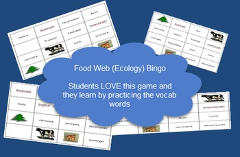 Ecology: Food Web Bingo