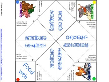 Food Web Cootie Catcher