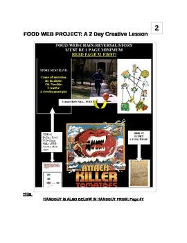 Food Web: Creative 2 day lesson plan