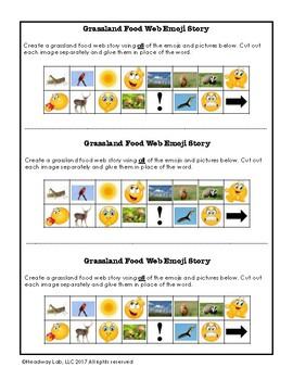 Food Web (Grasslands) Emoji Writing Prompt
