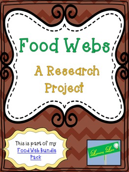 Food Webs - A Research Project (Editable Rubric)