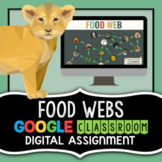 Food Web Project for Google Classroom - Science Distance L