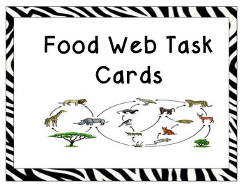Food Web/ Food Chain Task Cards