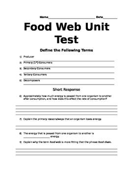 Food Web Test